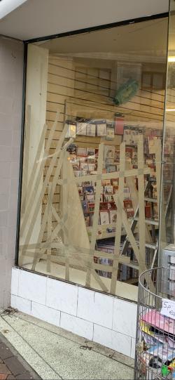 Broken Shopfront IOW