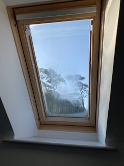 Misted up velux roof panel