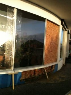Boarded Shopfront Window
